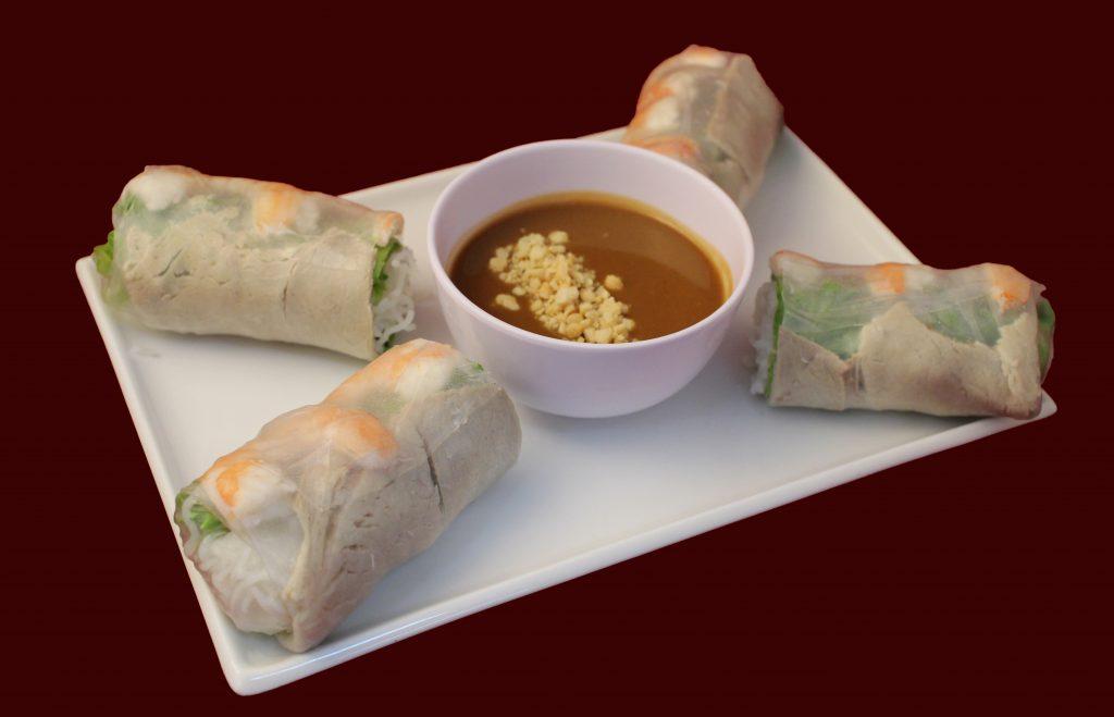 Davis CA Family Restaurant | Pho King 4 Springrolls02