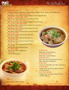 Davis CA Family Restaurant | Pho King 4 page1 2019 web
