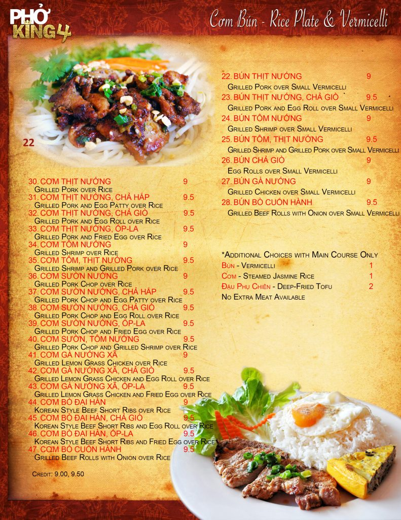 Davis CA Family Restaurant | Pho King 4 page3 2019 web