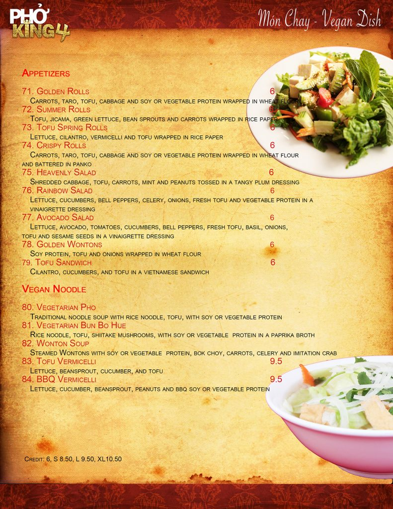 Davis CA Family Restaurant | Pho King 4 page6 2019 web